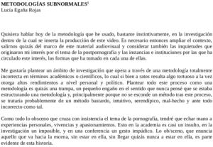 Metodologías subnormales (Seminario Gramsci)