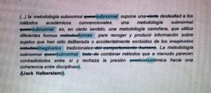 Metodologías subnormales